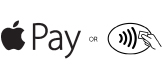 Apple pay logo and mobile payment symbol