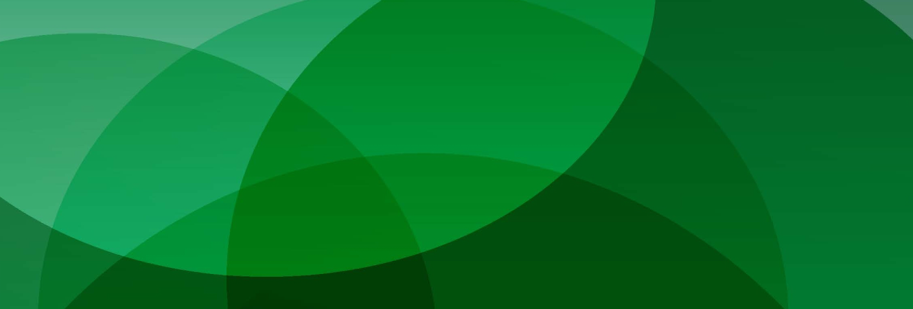Dieterich Bank's branding texture. A group of overlaying circles in shades of green.
